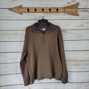 North Face | Quarter Zip Vintage Wool Blend Sweate